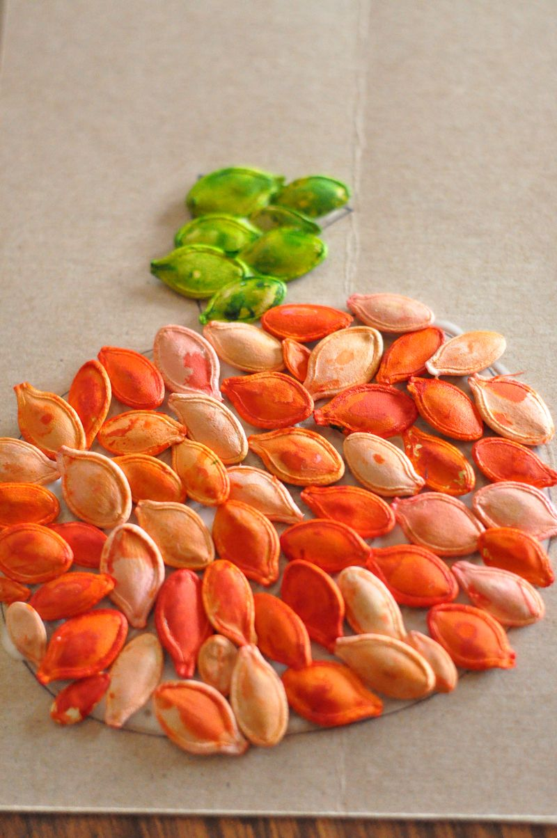 pumpkin seeds craft